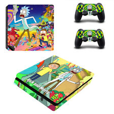 PS4 Slim Console Remotes Skin Rick and Morty Vinyl Wrap Decal Stickers Covers
