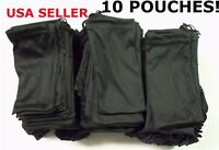 10 Black Micro Fiber Sunglasses Sunglass Carrying Pouch Case Bag Storage Sleeve