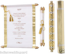100pcs Bulk scroll wedding invitation in high-end style,wedding scrolls card