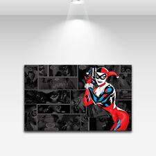 Animation Art Print on Canvas Harley Quinn Black Home Decor 24X36 Unframed