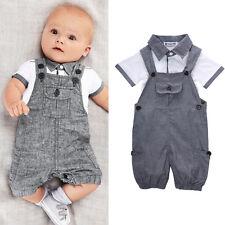 7-12M USA Baby Kids Boys Clothes T-shirt Tops + Pants Jumpsuit  Outfits Set
