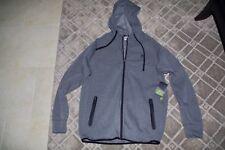 Men's Reebok Sweatshirt Zip up Hoodie Grey Size Large MSRP $78