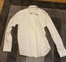 environ 41.91 cm Chemise à manches longues 100/% coton à rayures bleu M /& S Taille L 16.5 in