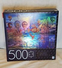 """PUZZLE 500 Piece Jigsaw Foil - Fantasy Panorama  24"""" x 18"""" MB USED"""