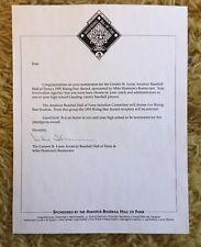 Mike Shannon autographed signed St. Louis Cardinals Letter Amateur Baseball HOF