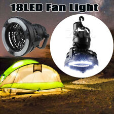 Tent Fan Light LED Camping Hiking Gear Equipment Outdoor Portable Ceiling Lamp