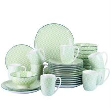 Midori Green 32X Ceramic Porcelain Dinner Set Plates Bowls Cups Home Tableware