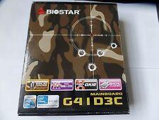 Biostar G41D3C, LGA775 Socket, Intel G41 Micro ATX  Intel Motherboard
