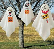 👻3 PACK HANGING GHOST HALLOWEEN DECORATION Garden Outdoor Party Friendly Cute👻