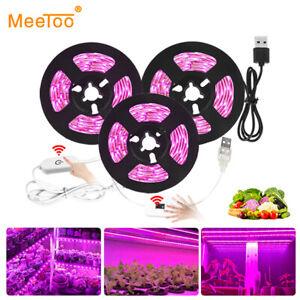 5V USB 2835 Full Spectrum Grow LED Strip Light Dimming Veg Plant Growing Lamp