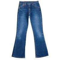 Vintage Levi's 525 89 Donna Blu Stretch Regular Bootcut Fit Jeans Taglia W30 L32