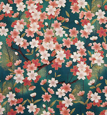 KONA BAY 2006 TSUKI NO HANA CASCADING CHERRY BLOSSOM FAT QUARTER COTTON FABRIC
