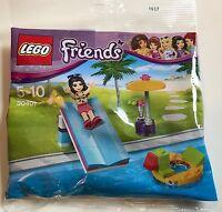 LEGO Friends Pool Foam Slide Minifigure Set (30401) BRAND NEW AND SEALED EMMA