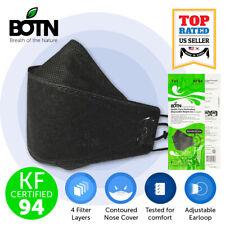 2 PCS BOTN KF94 BLACK Protective Face Mask Adult Made in Korea KFDA Approved
