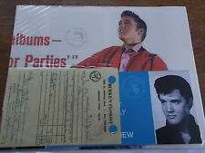 Elvis Presley Music Ephemera Memorabilia Flowers Receipt Glays Presley & Invite