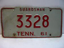 1961 Tennessee License Plate   3328  GUARDSMAN       Vintage  as5161