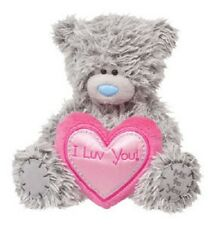 Douglas Cuddle Toys 6'' Plush TATTY TEDDY Love Bear With Heart  Valentines ~NEW~