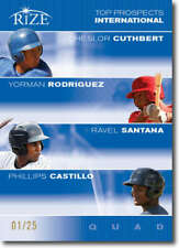 2012 Leaf Rize Draft Blue Top Prospects Quad #CC-YR-RS-PC Cheslor Cuthbert/Yorma