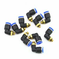 10Pcs 6mm To M5 Elbow Male Air Pneumatic Quick Pipe Connectors Fitting