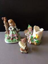 3 statuettes petite fille / fée
