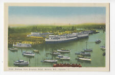CPR Steamers Inner Harbour from Empress Hotel VICTORIA BC Canada 1930-40s PECO