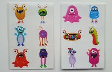 72 Monsters Cute temporary fun tattoos - Party Bag Fillers Wedding/Kids/piñata/