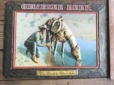 Vtg Genesee Beer Advertising Two Friends Adam Styka Bar Light Plastic