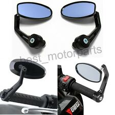 "MOTORCYCLE 7/8"" HANDLEBAR BAR END REAR MIRRORS FOR TRIUMPH STREET SPEED TRIPLE"