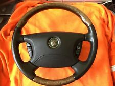 Jaguar S Type Steering Wheel Burl Wood Leather Wooden With Bag Multi Function