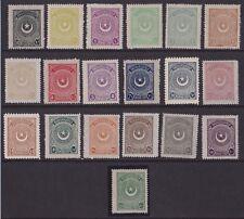 TURCHIA TURKEY - 1923 STELLE E MEZZALUNA MH 19 VAL. CAT. € 1485,00