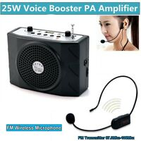 5W Waistband PA Voice Amplifier Booster With FM Wireless Microphone For Teacher