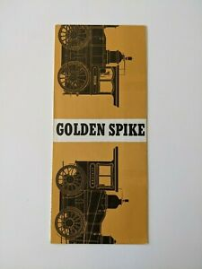 1979 GOLDEN SPIKE NATIONAL HISTORIC SITE GUIDE MAP & TOURIST BROCHURE, UTAH