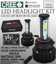 ICBEAMER 9006 HB4 6K 30K CANBUS CREE COB LED KIT Low Beam Fog Light White/ Blue