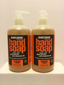 Lot Of 2 Everyone Hand Soap Tangerine + Vanilla 12.75 Oz (377ml)
