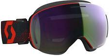 SCOTT Red/Blue Nights LCG Evo Snocross Goggles ACS NoFog Anti-Fog Enhancer Gree