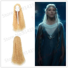 The Hobbit Elf Galadriel Wig Lord Of The Ring Long Curly Wig Blonde Anime Wigs