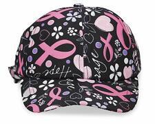 Pink Ribbon Breast Cancer Awareness Hats and Visors - Ribbon Black Hat