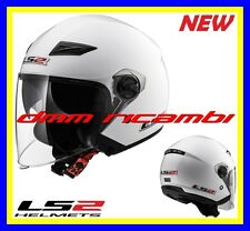 New 2017 Casco DemiJet con visiera lunga LS2 TRACK OF569 Bianco Tg.XL