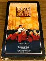 Dead Poets Society  VHS VCR Video Tape Movie Robin Williams Used