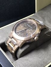 BURBERRY The City Rose Gold-Tone Mens Swiss Made Chronograph Watch BU9353 NEW