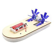 Electric Wood Boat Toy Kit Propeller Motor Shaft DIY Model Hobby School Kids S