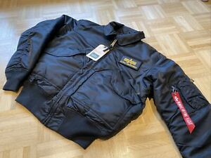 Alpha Industries CWU Custom Jacke Bomberjacke, schwarz, medium, NEU!