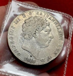 George Silver Crown 1818 LIX