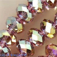 70  PCS , 6X8 mm Multi Purple Color Faceted Crystal Gemstone Abacus Loose Beads