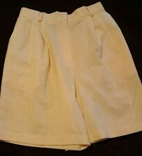 WOMENS 12 REQUIREMENTS YELLOW FRONT PLEATED SHORTS