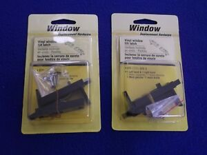 ((2)) Prime-Line Products F 2628 Spring Loaded Sliding Window Tilt Latch, Black