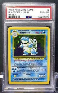 Blastoise Holo Base Set 2 Pokemon Card #2 PSA 8 NM-MT