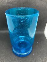 Murano Venetian Art Glass Cobalt Blue hand-blown Pedestal Wine Cup Beaker Goblet