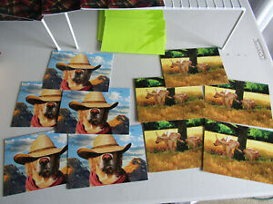 Lot of 10 Dogs Peeing + Hero Hat Dad Father's Day Card Greeting Avanti Press USA