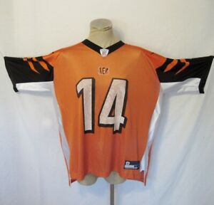 Cincinnati Bengals Jersey Andy Dalton 14 NFL Football XL Reebok Equipment Orange